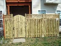 Shadowbox Fence with Lattice Work