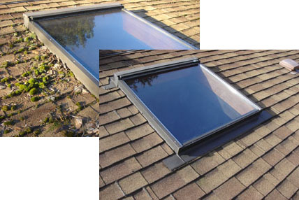Roof Demoss before & after