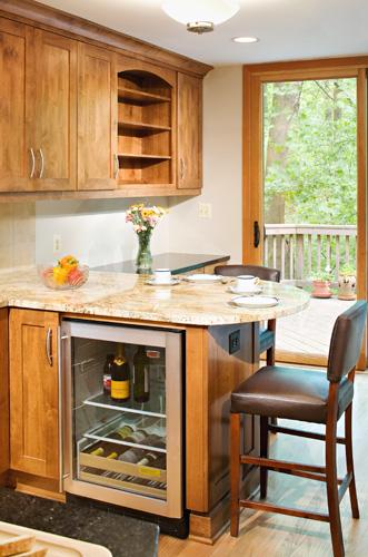 Wine Cooler And Desk