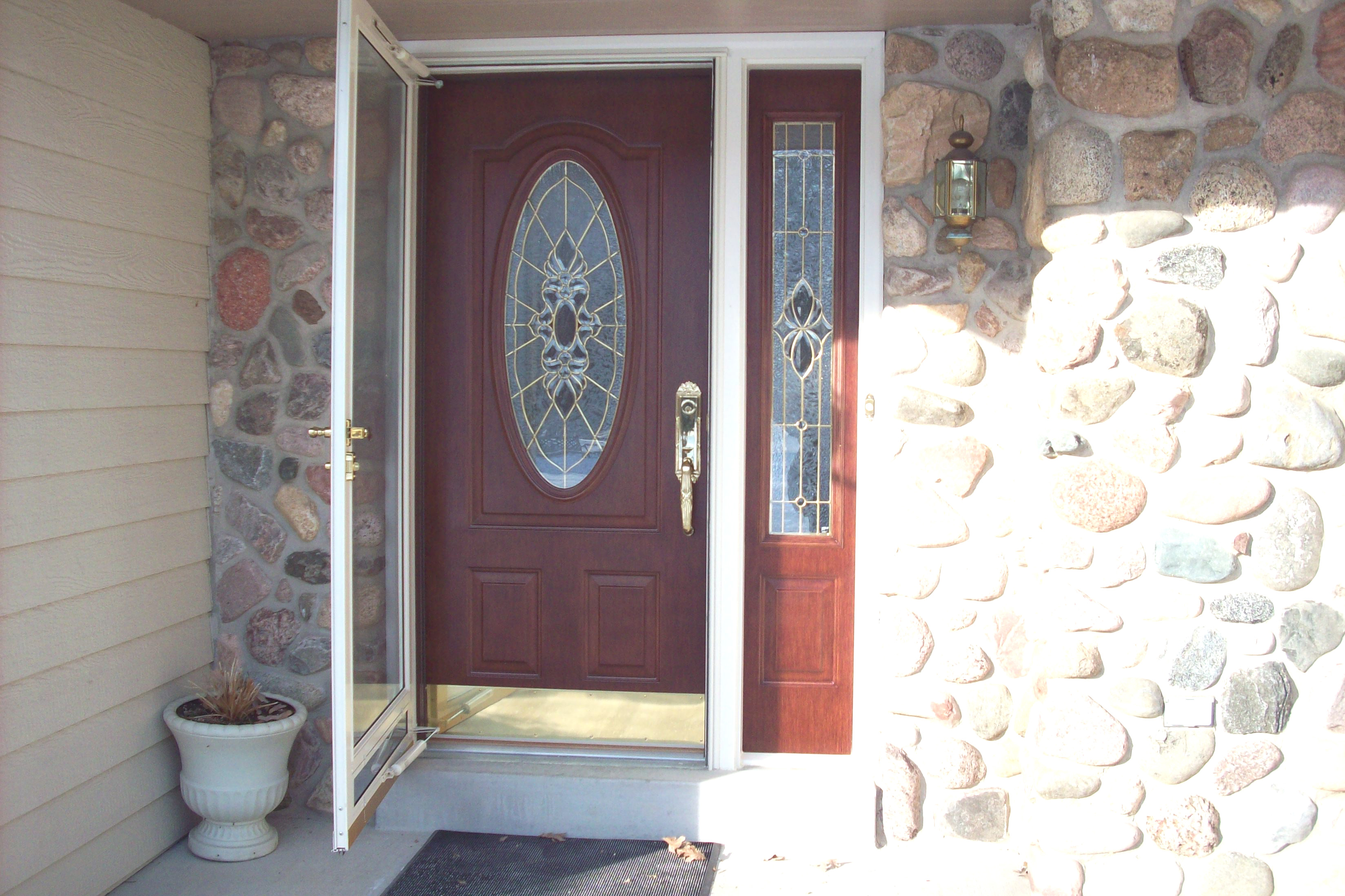 Storm doors with sidelights images for Front entry doors with storm door