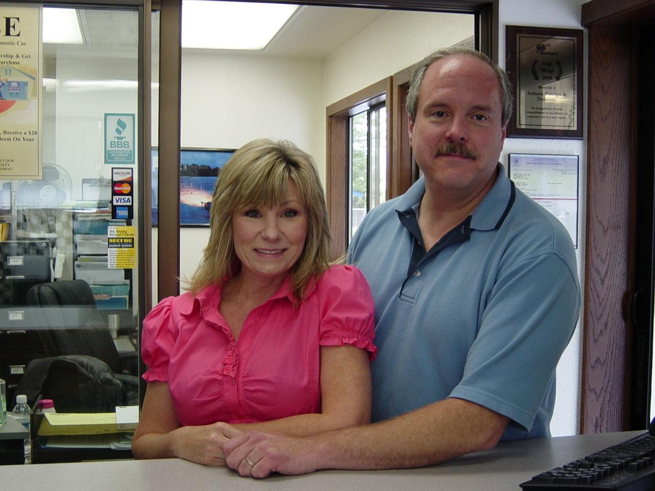 Greg & Julia, owners