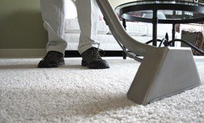 $145 for 3 Rooms of Carpet Cleaning, a Hallway...