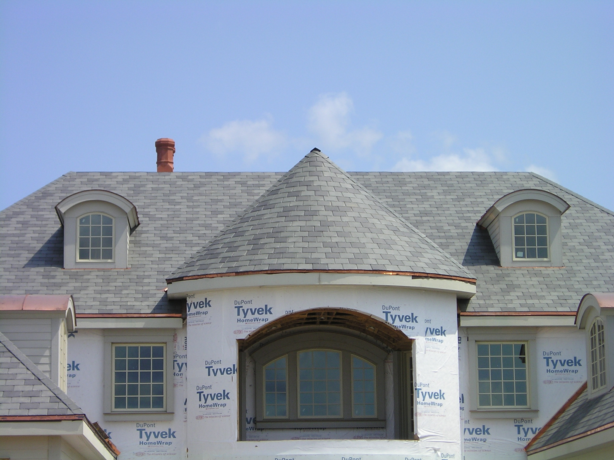 Turret style roof