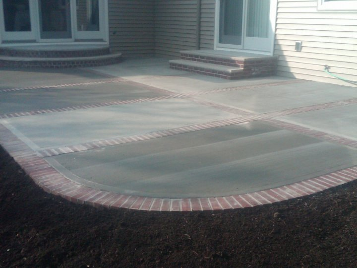 Gorgeous Concrete Patio