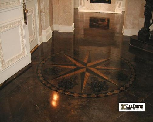 Dalcrete decorative concrete inc carrollton tx 75007 for Painting indoor concrete floors