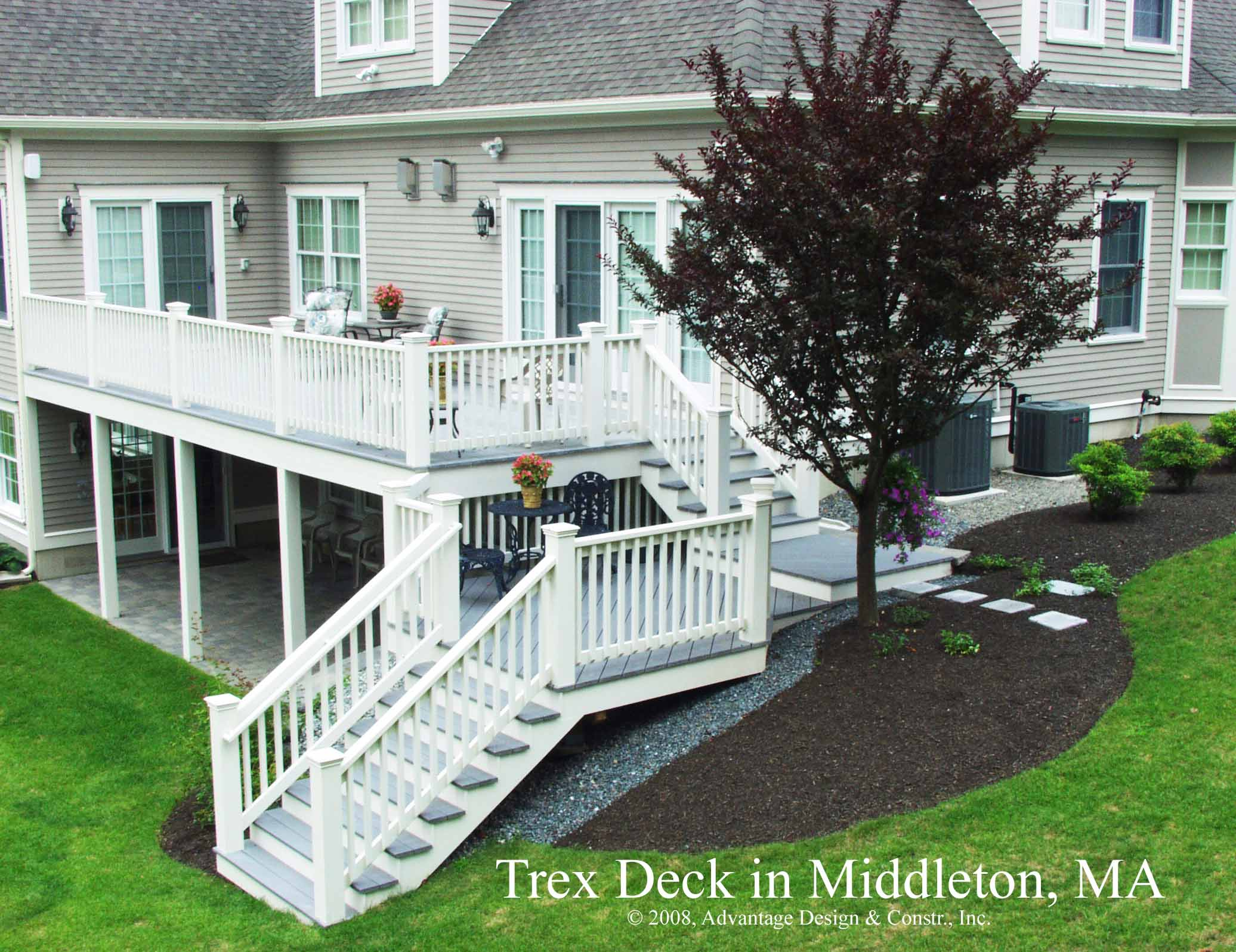 Archadeck of suburban boston burlington ma 01803 for Two story deck
