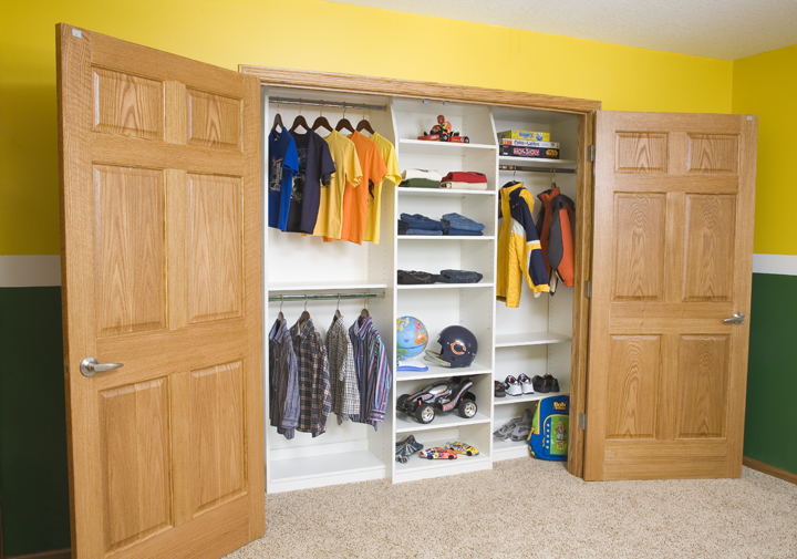 Reach in Closet in Melamine