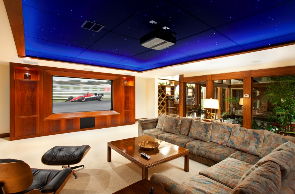 African Mahogany Wall Unit for Projection TV