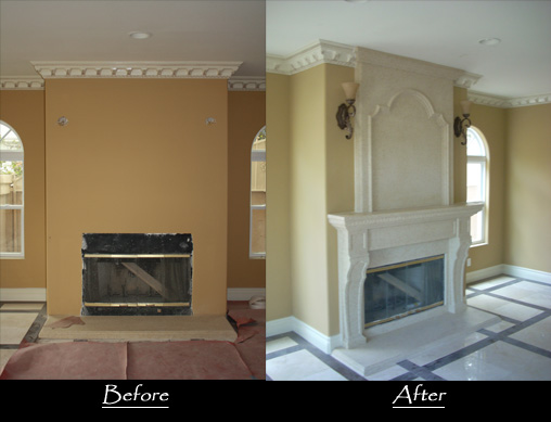 Fireplace with Over mantel