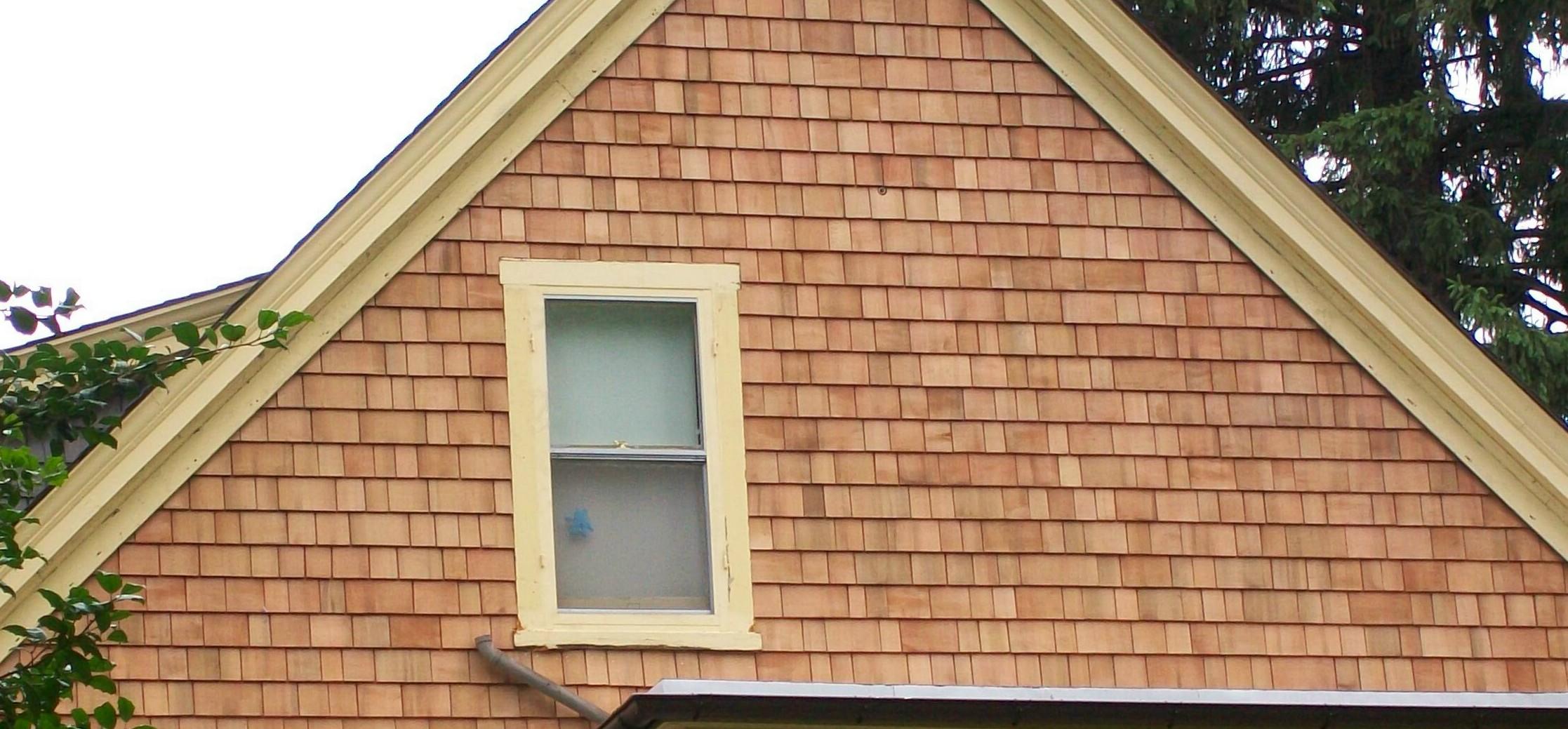 how to install cedar shingles on a gable end