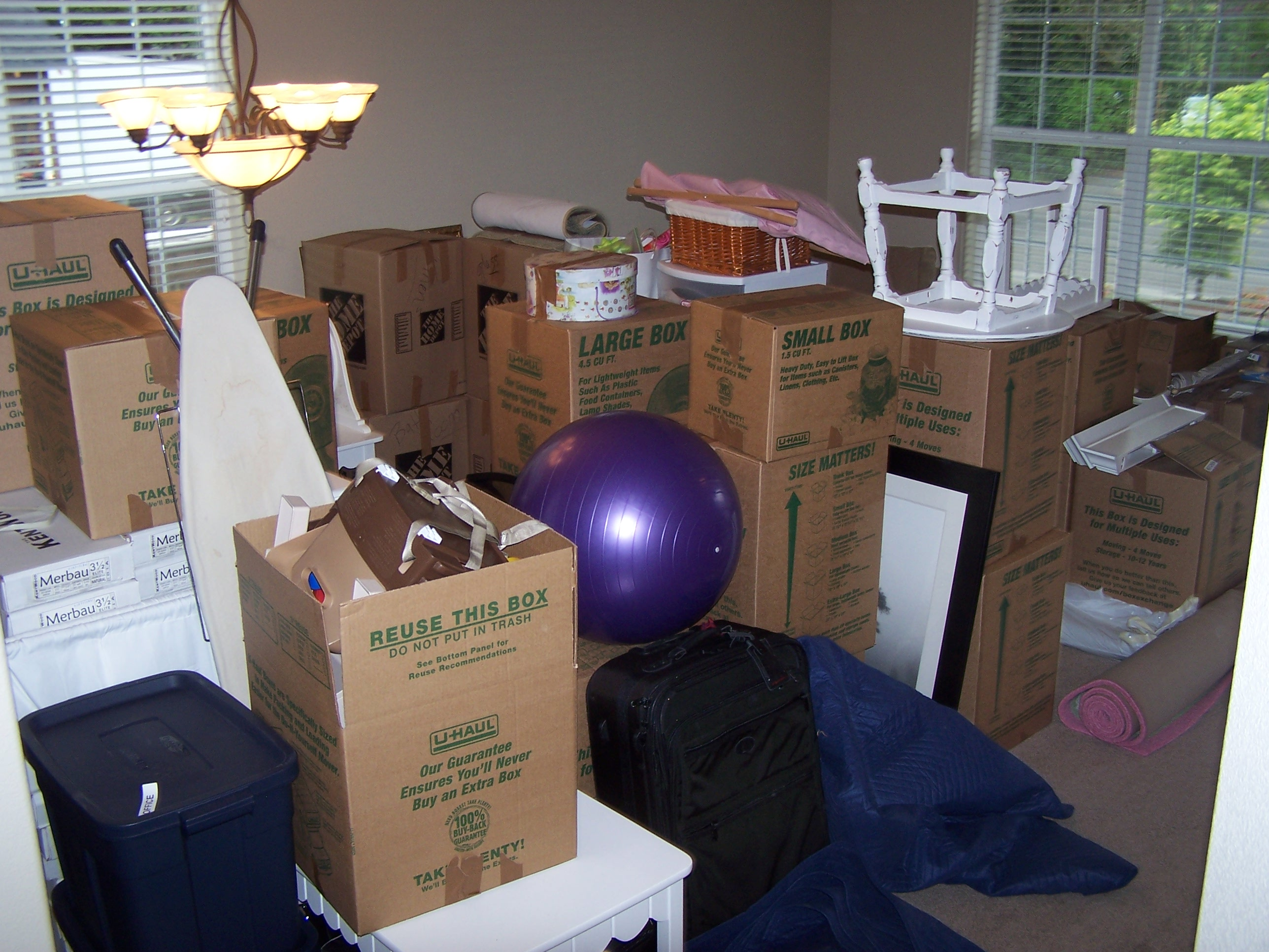 Room of boxes