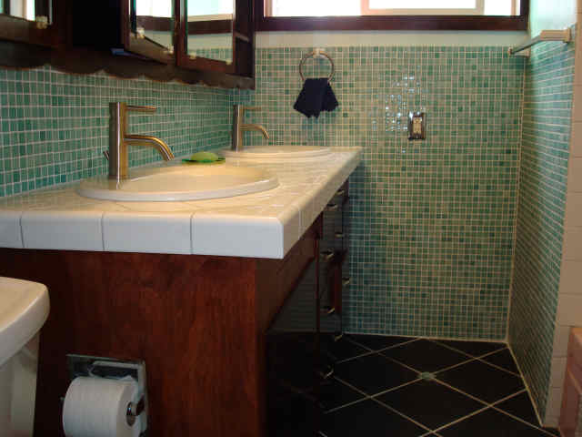 Master Bath Ceramic and Glass Tile Installation