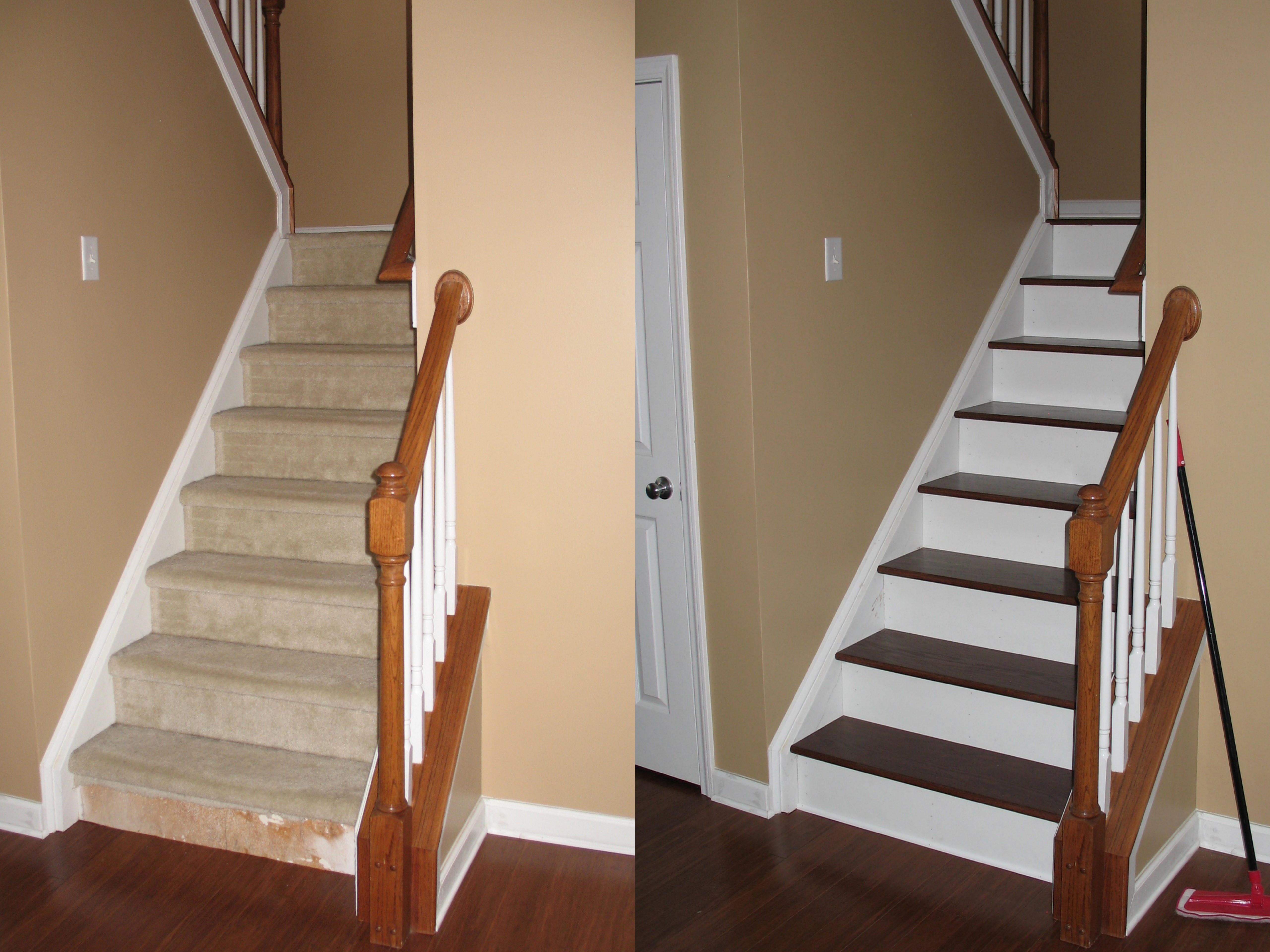Capital stair makeover raleigh nc 27609 angies list - Trappen rots ...