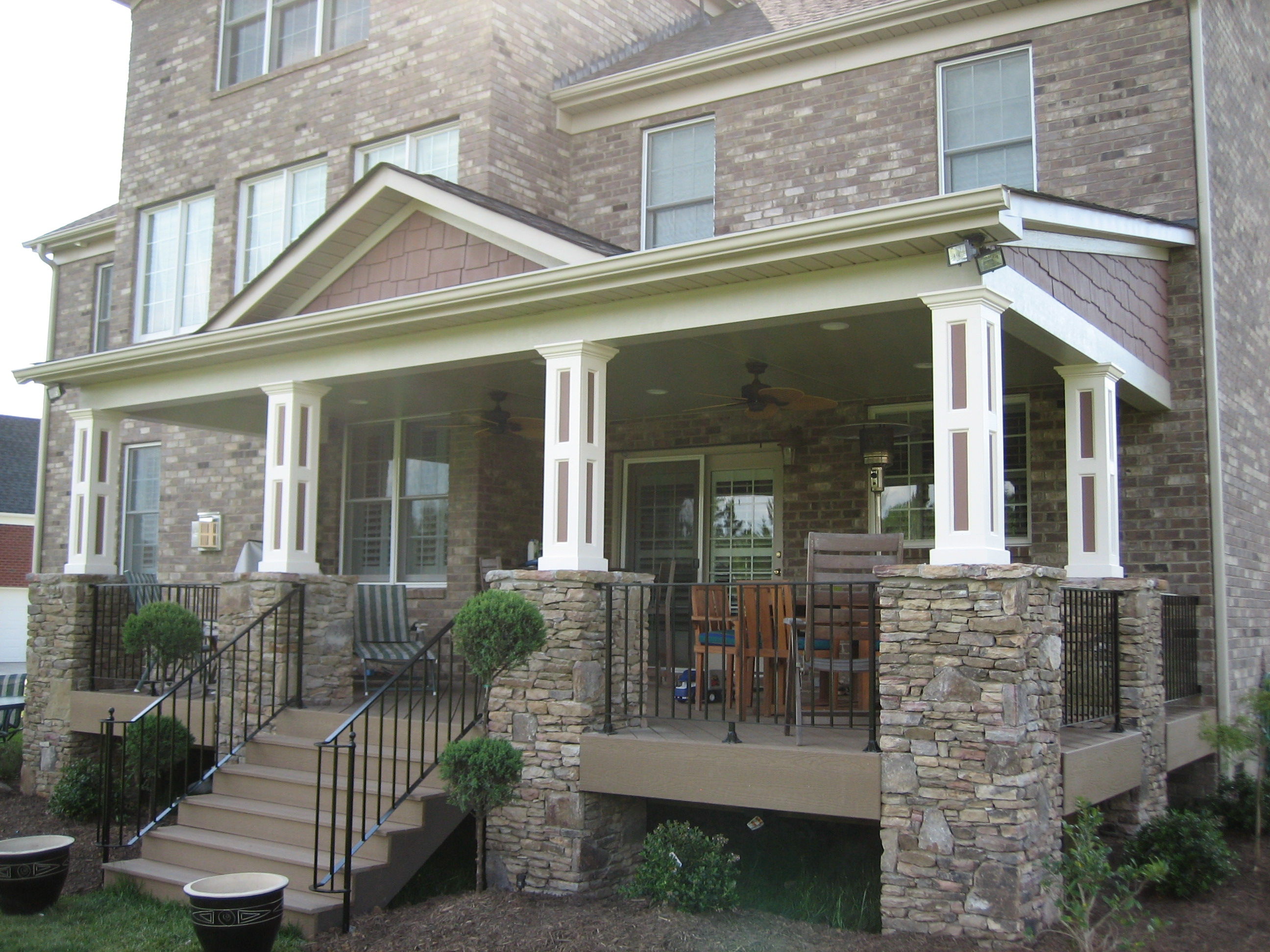 Exterior additions llc indian trail nc 28079 angies list for Stone porches photos