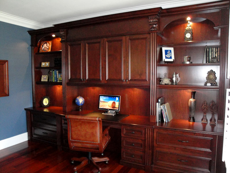 Perfect Built In Home Office Cabinets Built In Home Office Cabinets