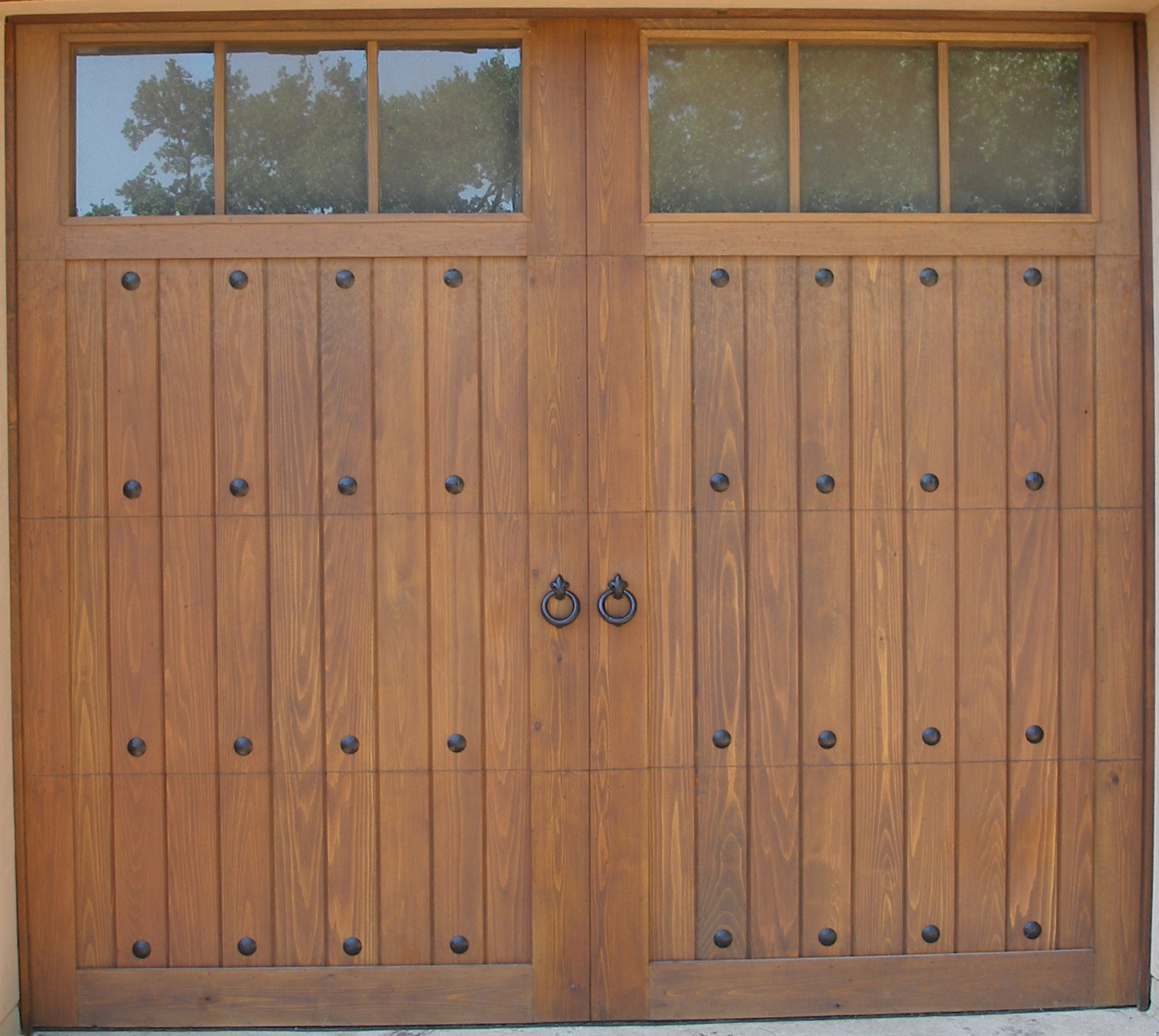1631 #734B32 This Custom Cedar Garage Door With Windows And Decorative Hardware Was  picture/photo Entry Doors San Antonio 38991825