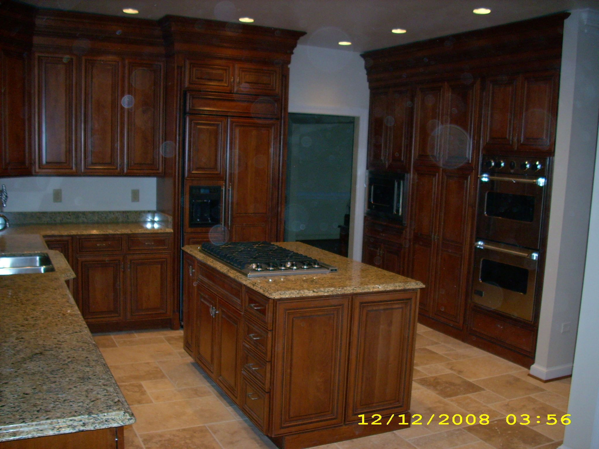Attractive Remodeled Kitchen Featuring Brookwood Cabinetry With 4 Layered Crown .