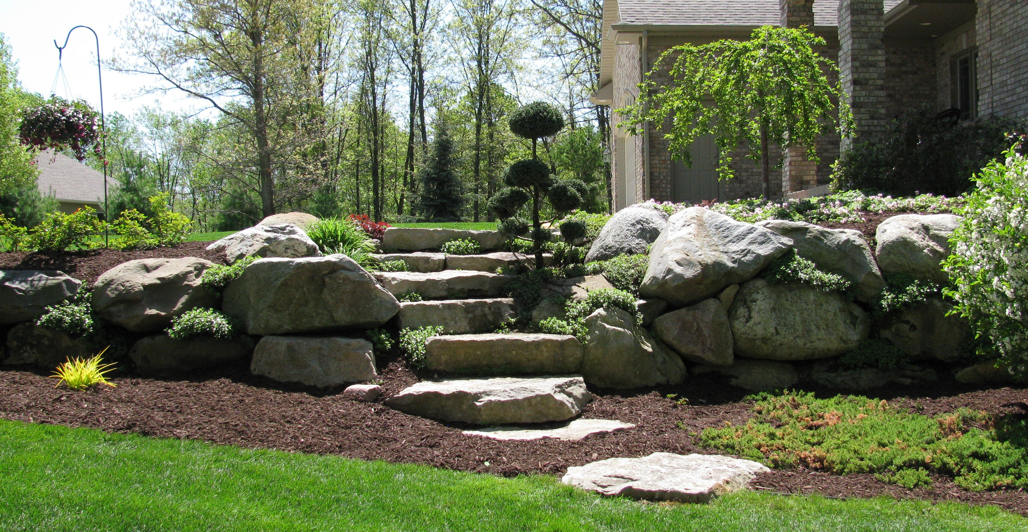 Boulder Retaining Wall With Plantings. Found On Google Images From Angieu0027s  List. This Could