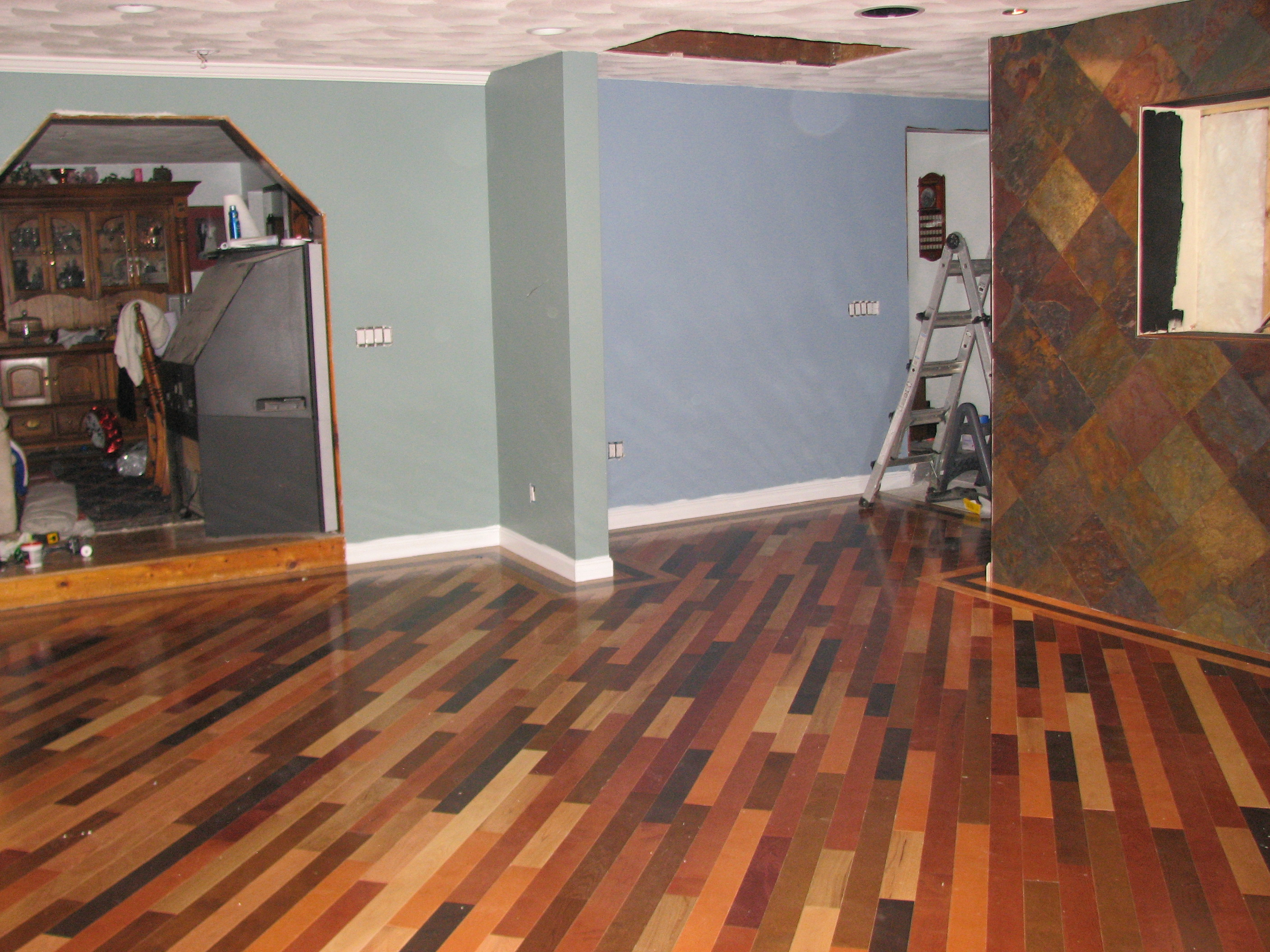 Affordable Multi Colored Hardwood Floors Wood Floor Slate Wall X Multi  Colored With Hardwood Floor Protectors