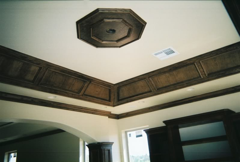 Crown Molding, Panel Ceiling.