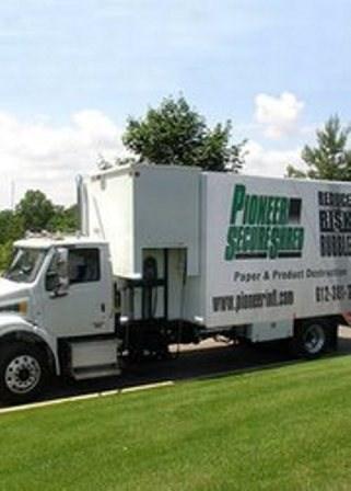 Pioneer SecureShred Mobile Truck.