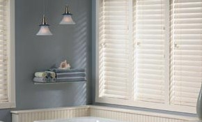 $800 for 8 Faux Wood Blinds and Installation
