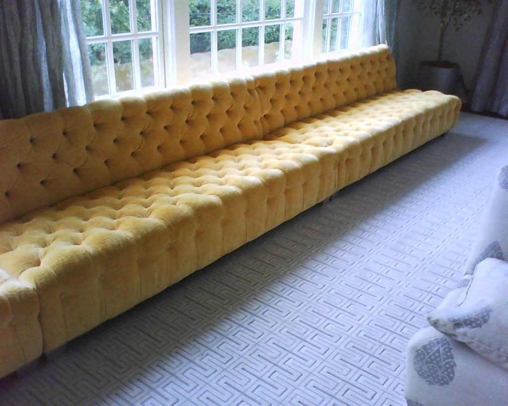 Custom Tufted Sectional Sofa