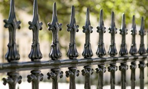 $551 for Iron Fence Painting!