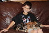 my son & pups we R fostering Nov/Dec 2011