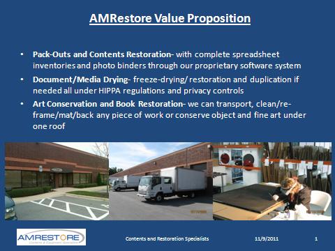 AMRestore Value Proposition Slide 1