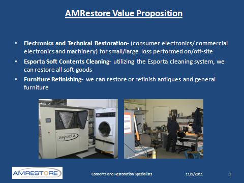 AMRestore Value Proposition Slide 2