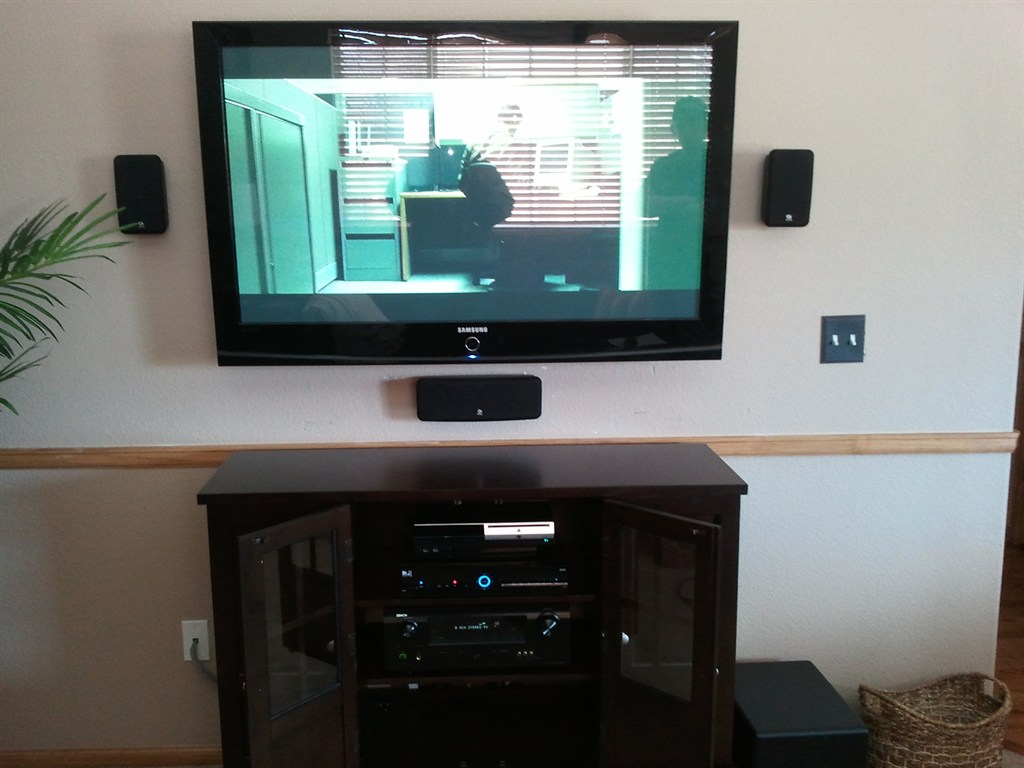 On Wall with Home Theater