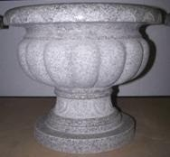 Scalloped Granite Planter