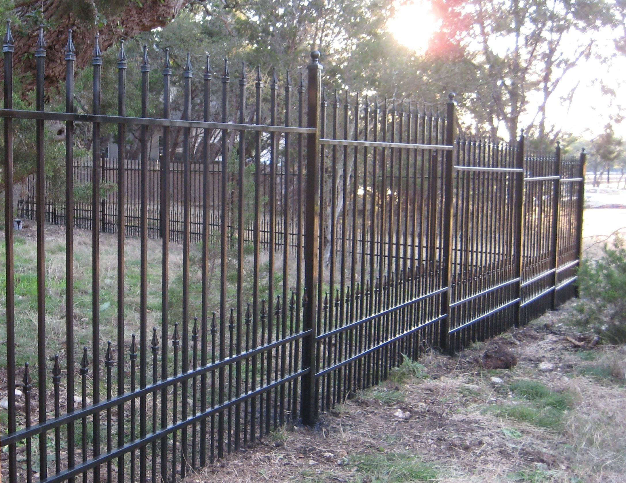 Clean The Decorative Wrought Iron Railing : Clean The Decorative Wrought Iron Railing : Wrought Iron Fence