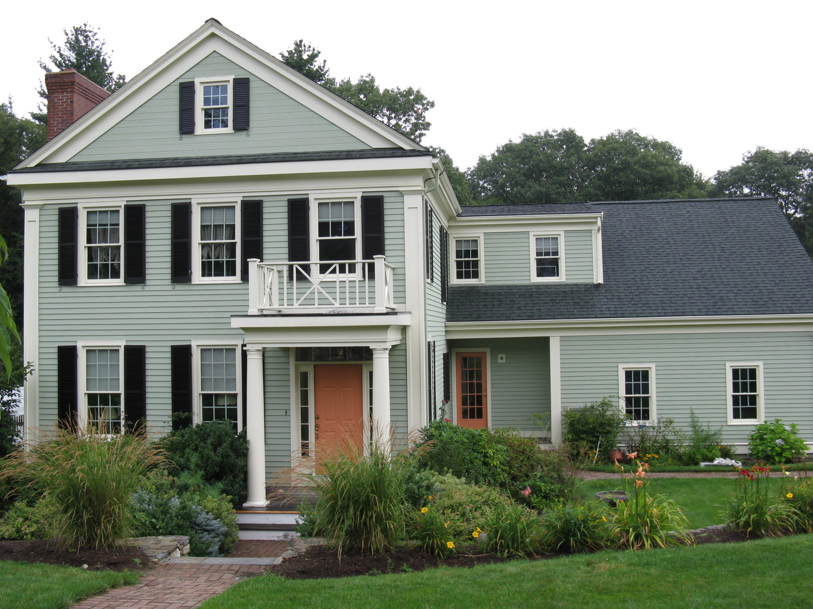 Sage Green House With White Trim furthermore Red And Grey Living Room Design besides Brick House With Green Shutters besides Green Ash likewise Dunn Edwards White Exterior Images. on olive green house with white trim