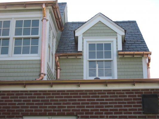 Copper gutters, Annapolis