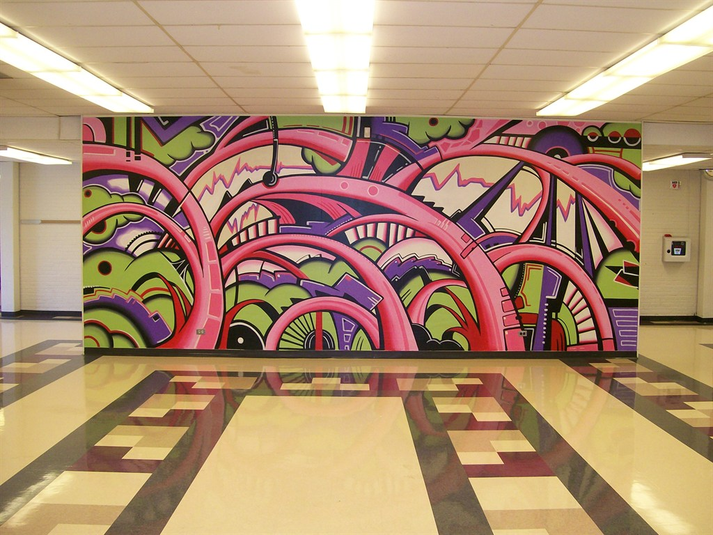 Abstract mural for Abstract mural painting