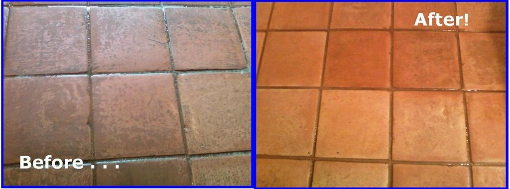Tile Cleaning Before & After