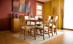 $2,529 Complete Dining Room Table with 4...