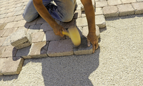 $999 for a Brick Paver Patio or Walkway Delivered...
