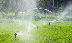 $100 for Two Hour Sprinkler Service Call