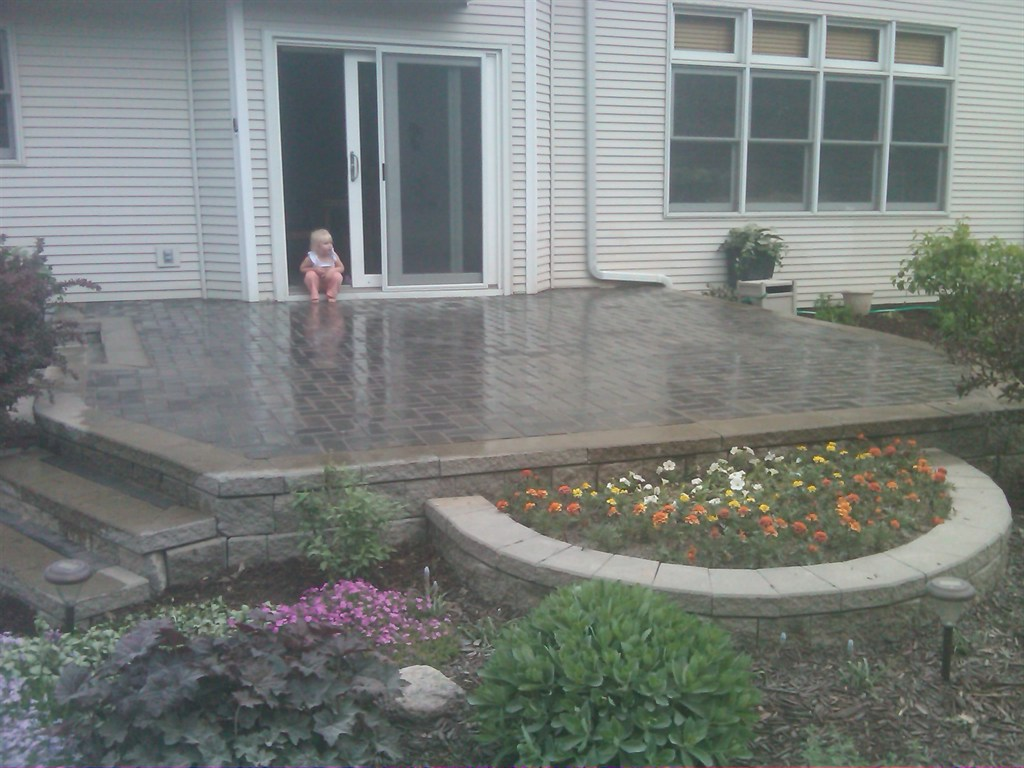 Patio, Steps and Planter Bed