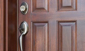$331 for Door Refinishing and Sweep Replacement