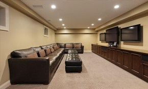 $575  for 4 New Recessed Lights with a Single...