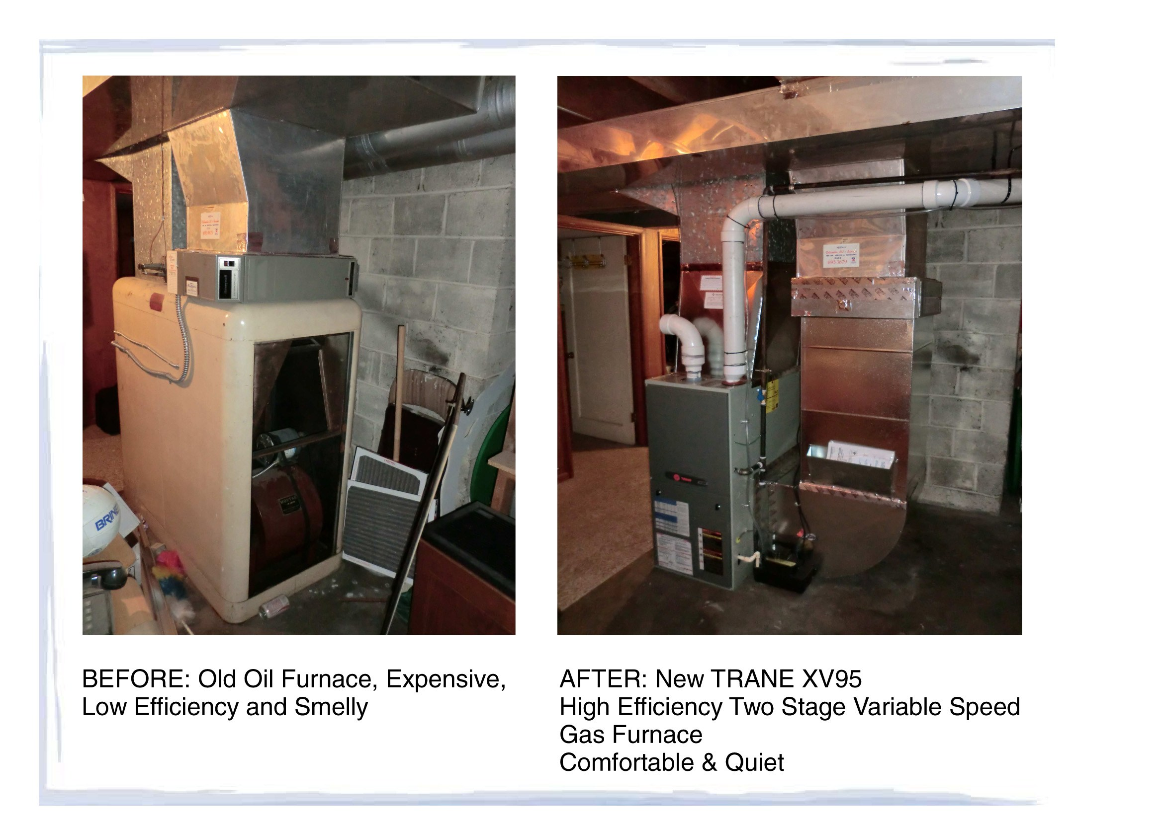 Trane xv95 installation Manual