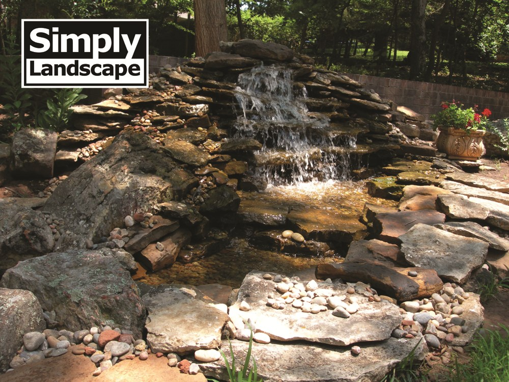 Backyard Water Features For Dogs : the waterfall into a gravel bed or a waterfall well and back up to the