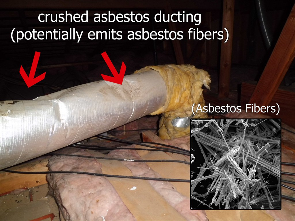Crushed Asbestos Ducting.