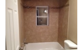 New Ceramic Tile Bathroom Walls over Tub...