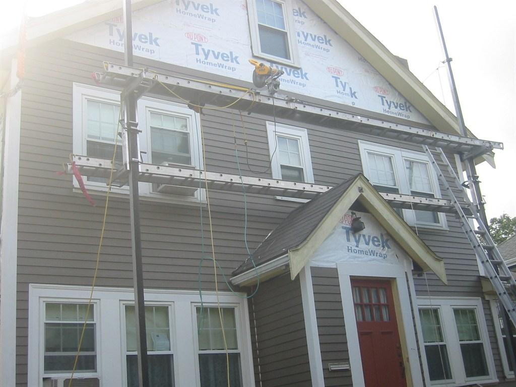 hardie plank & exterior trim.