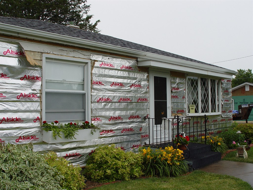 Before Permanent siding